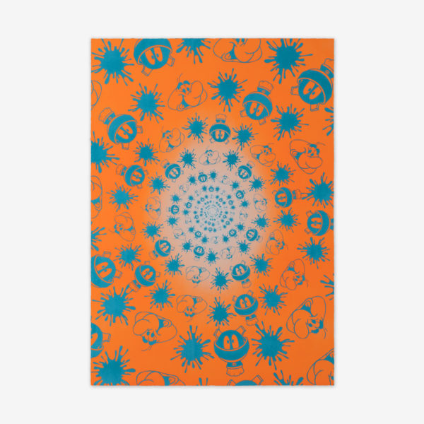 no-stain-no-gain-john-armleder-print-them-all-mamco-geneve-lithograph-orange-blue-edition